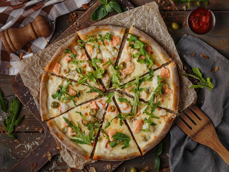 Пицца Лосось Кальмар