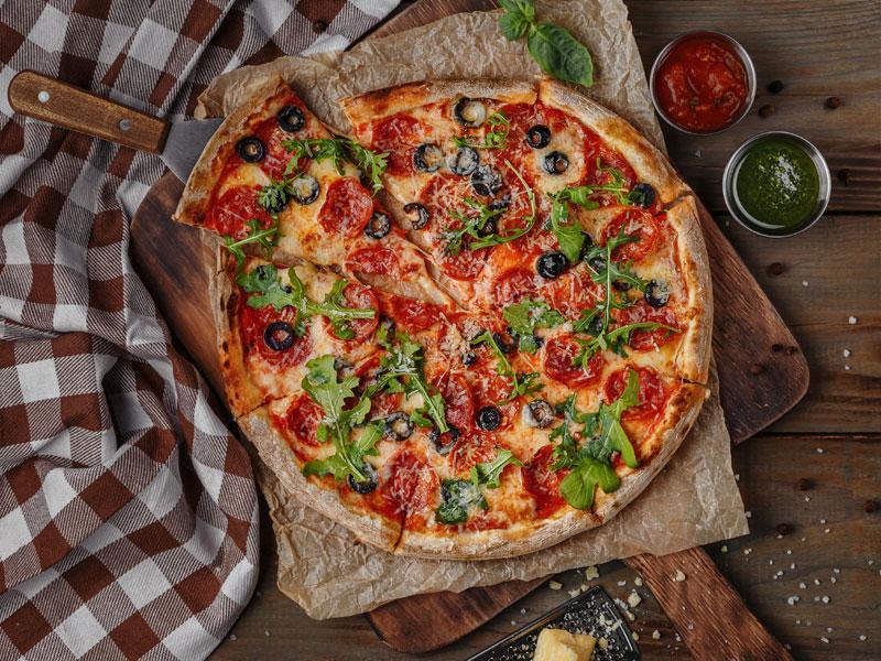 Доставка самой вкусной пиццы Пепперони в Одессе | РИС - доставка суши в Одессе