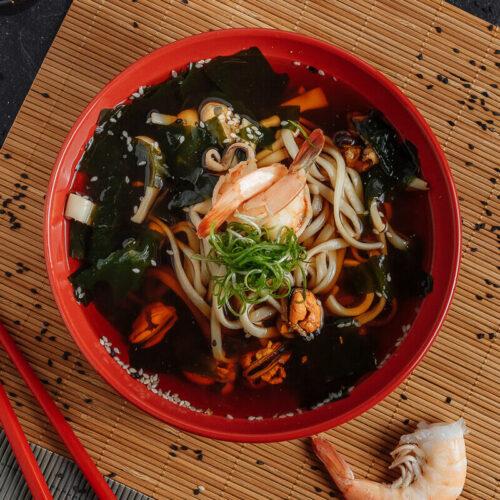 Суп Удон с морепродуктами
